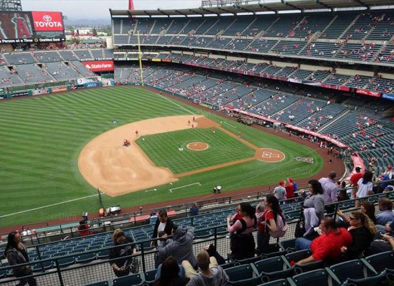 Seating view for Angel Stadium Section V512 Row G Seat 8