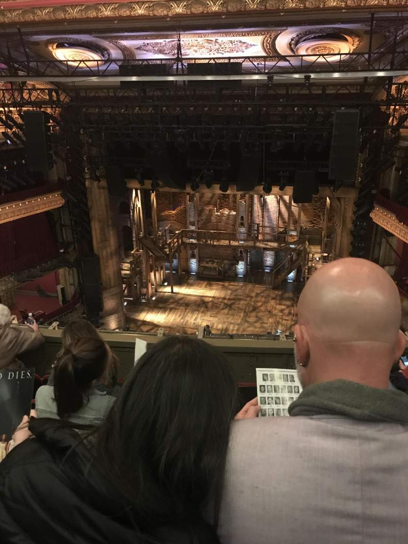 Seating view for PrivateBank Theatre Section Balcony RC Row C Seat 414