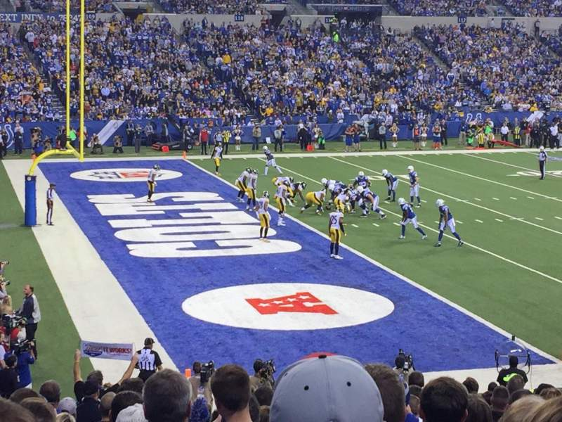 Seating view for Lucas Oil Stadium Section 145 Row 22 Seat 12