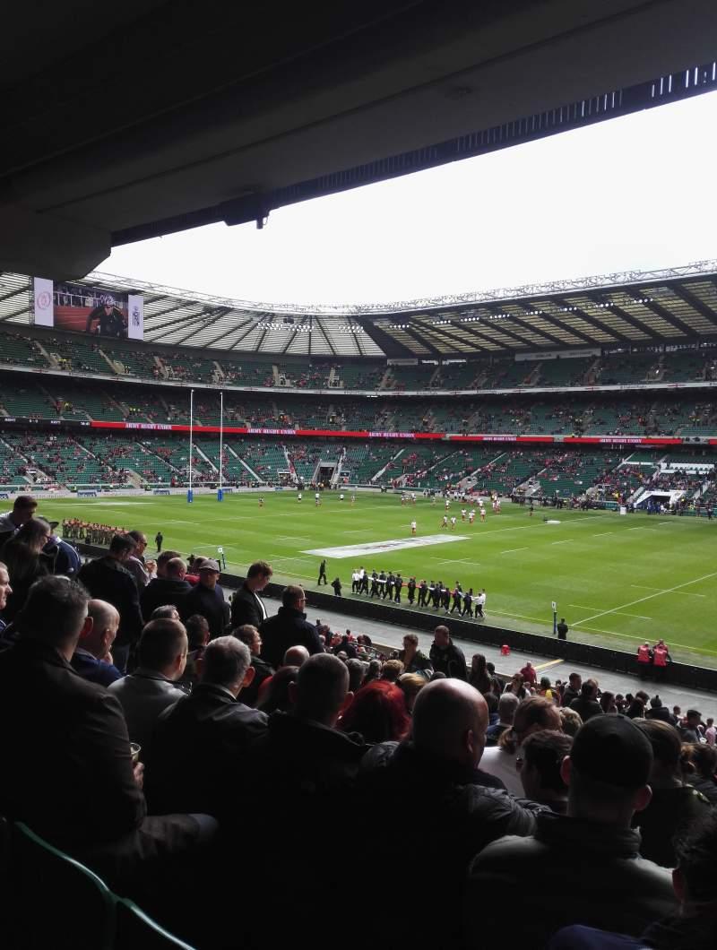 Seating view for Twickenham Stadium Section L21 Row 38 Seat 105