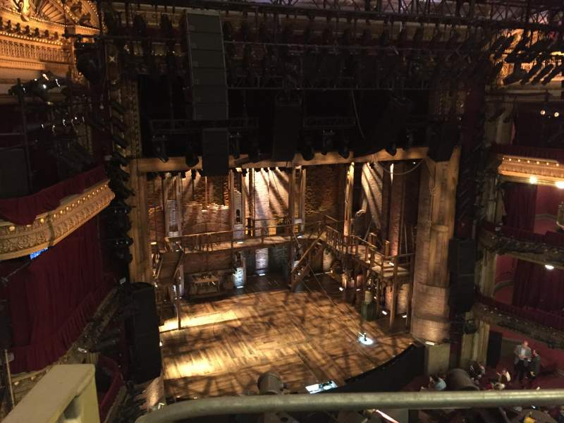 Seating view for PrivateBank Theatre Section Balcony L Row A Seat 1