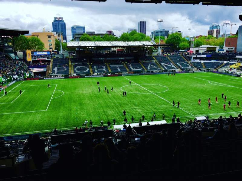 Seating view for Providence Park Section 215 Row Q Seat 4,5