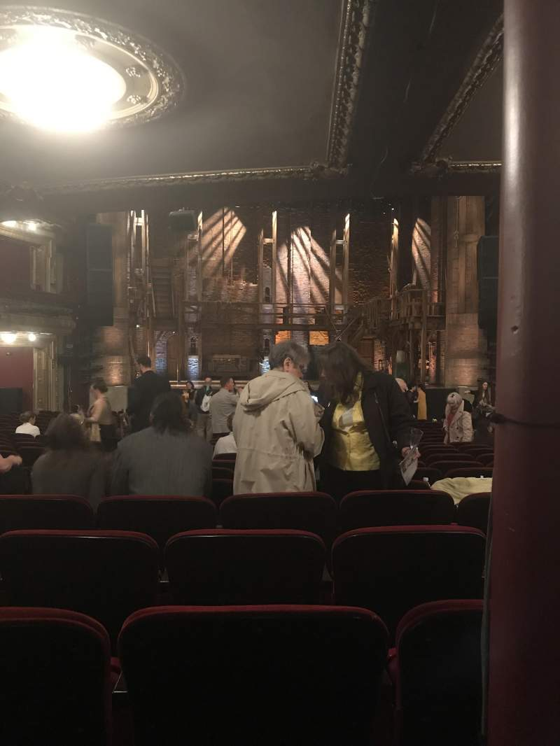 Seating view for CIBC Theatre Section Orchestra C Row X Seat 107