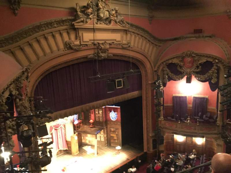 Seating view for Lyceum Theatre (Broadway) Section Balcony L Row C Seat 21