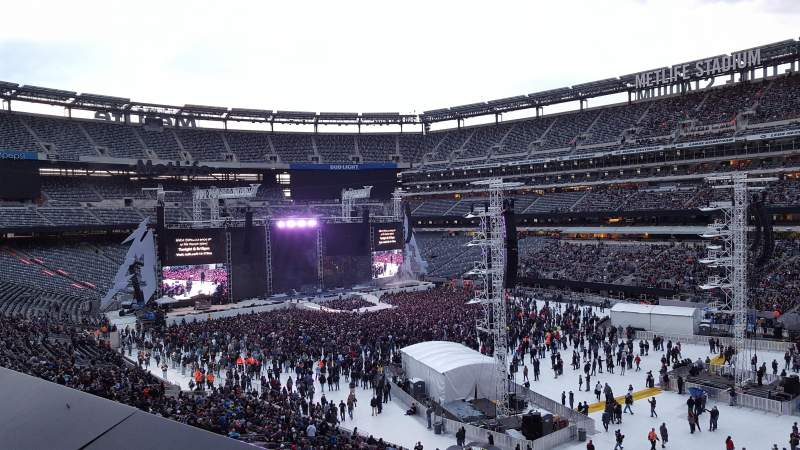 Seating view for MetLife Stadium Section 233 Row 1 Seat 3