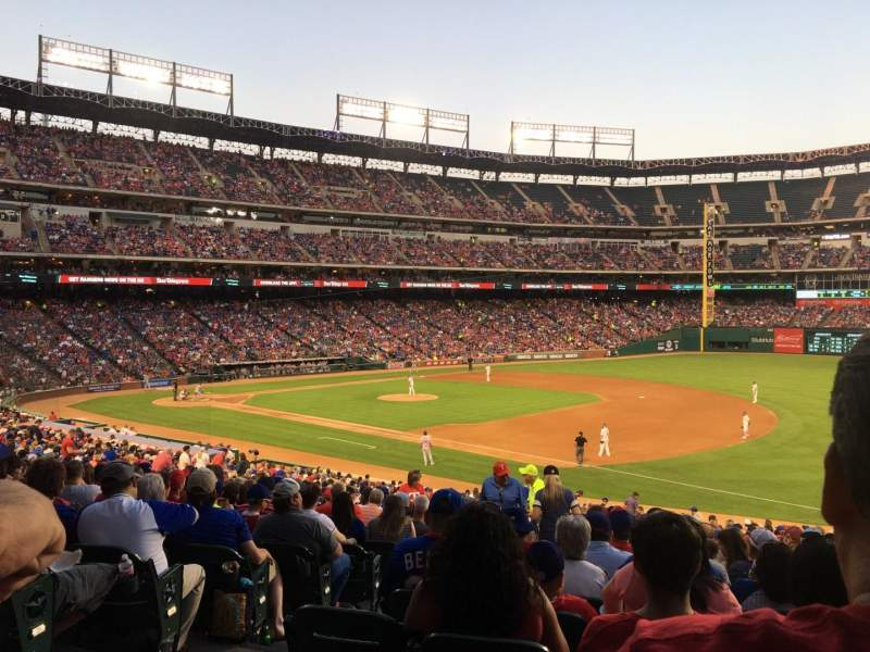 Seating view for Globe Life Park in Arlington Section 37 Row 32 Seat 4