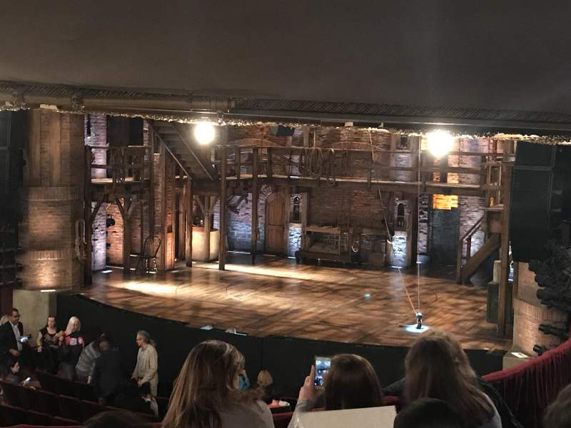 Seating view for CIBC Theatre Section dress circle r Row e Seat 4