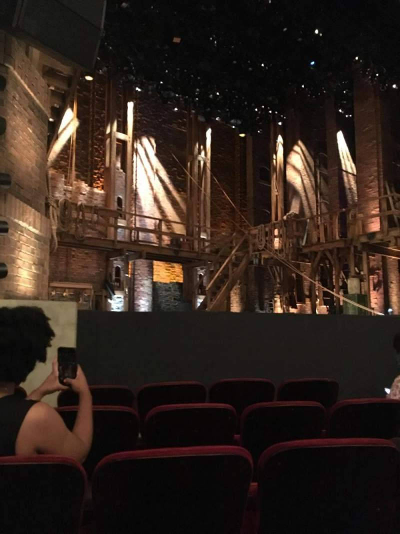 Seating view for PrivateBank Theatre Section Orch-L Row F Seat 13