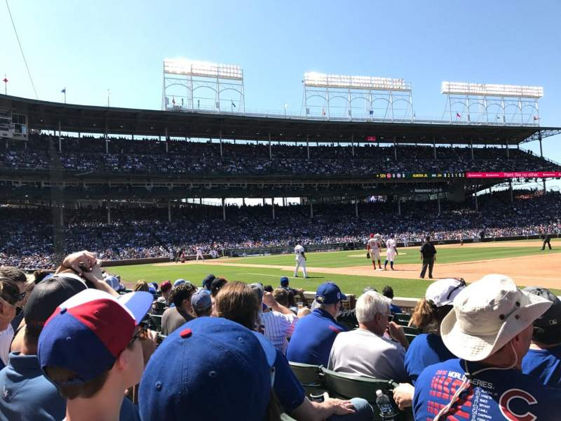 Seating view for Wrigley Field Section 34 Row 5 Seat 111