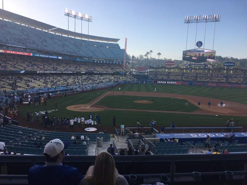 Seating view for Dodger Stadium Section 126LG Row D Seat 2