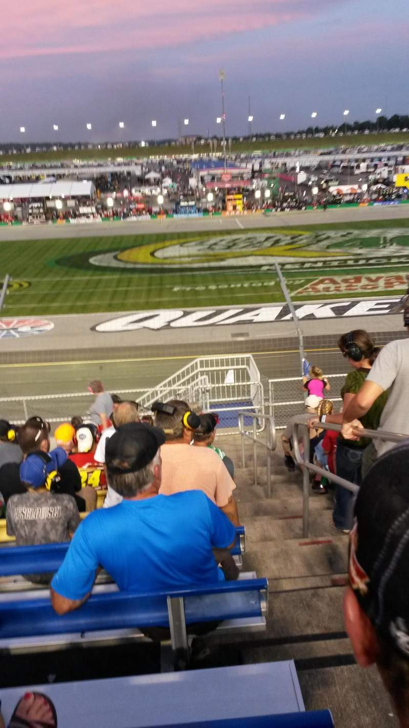 Seating view for Kentucky Speedway Section GS4 Row 11 Seat 1