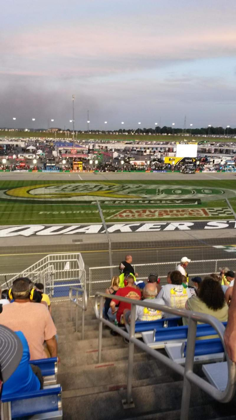 Seating view for Kentucky Speedway Section GS4B Row 11 Seat 1