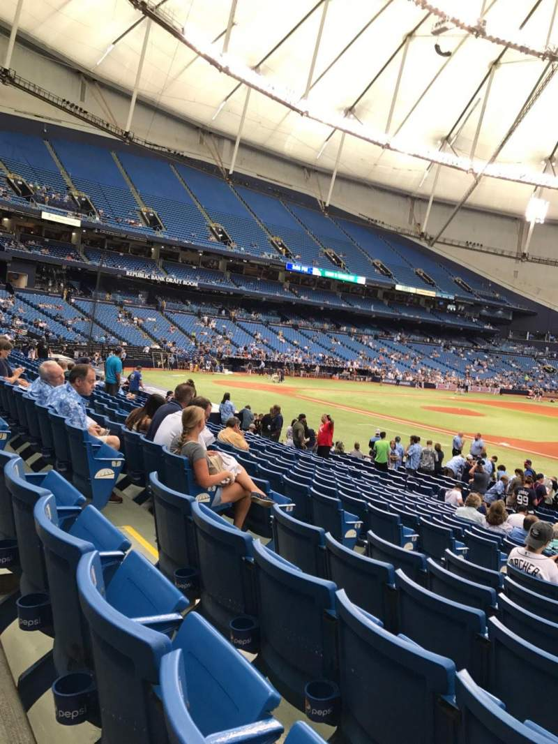Seating view for Tropicana Field Section 124 Row V Seat 7