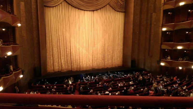 Seating view for Metropolitan Opera House - Lincoln Center Section Grand Tier Row A Seat 7