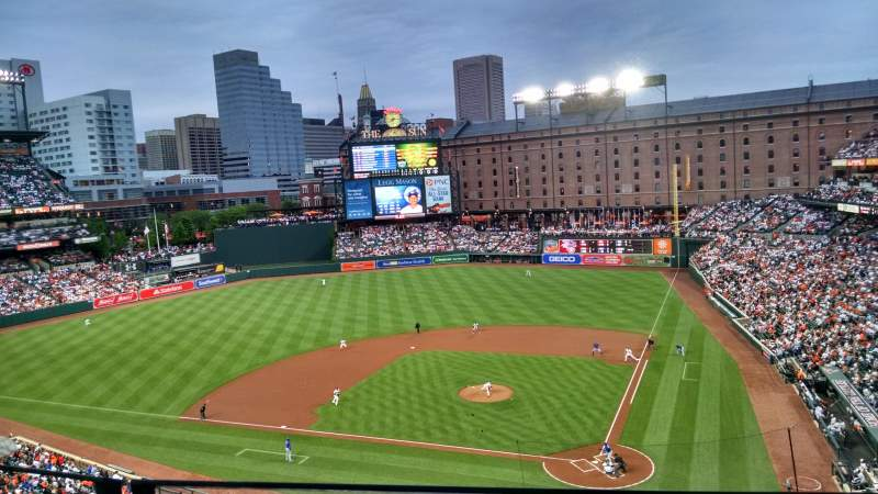 Seating view for oriole park at camden yards Section 344 Row 2 Seat 9