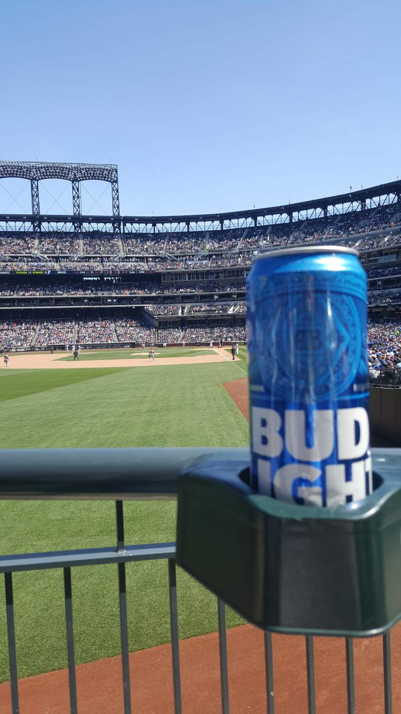 Seating view for Citi Field Section 133 Row A Seat 6