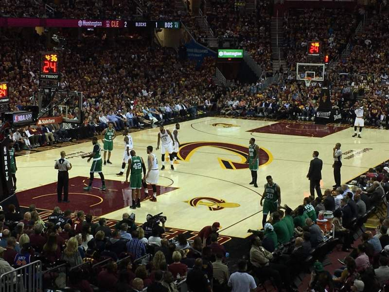 Seating view for Quicken Loans Arena Section 120 Row 14 Seat 10