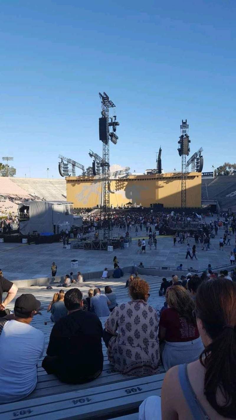 Seating view for Rose Bowl Section 13-H Row 23 Seat 102