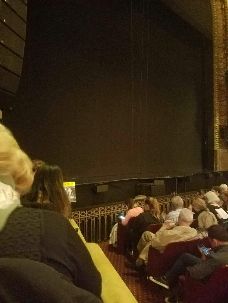 Seating view for Palace Theatre (Broadway) Section orch left Row f Seat 1