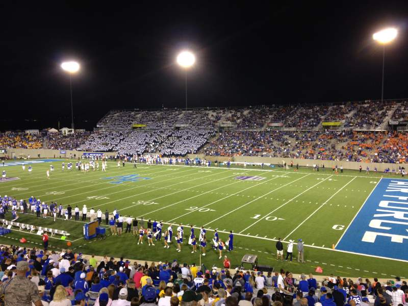 Seating view for Falcon Stadium Section M4 Row A Seat 25
