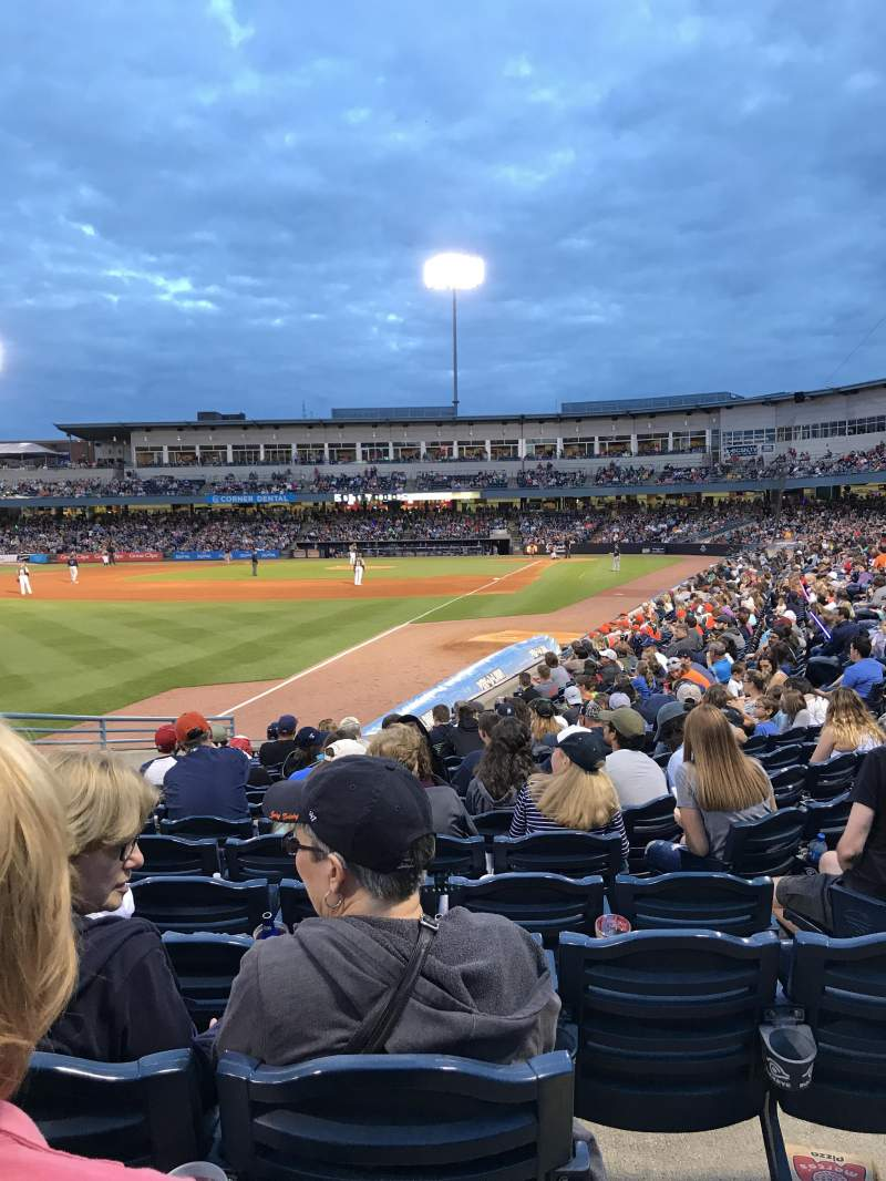 Seating view for Fifth Third Field Section 101 Row P Seat 19