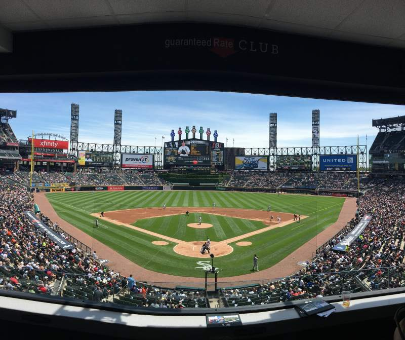 Seating view for Guaranteed Rate Field Section Box C Row 4 Seat 3