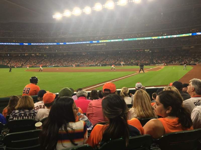 Seating view for Minute Maid Park Section 106 Row 7 Seat 8
