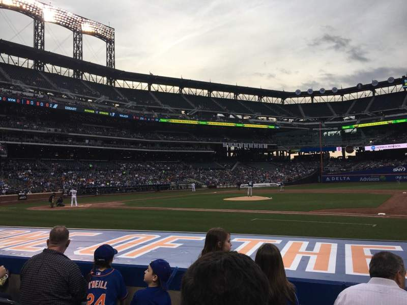 Seating view for Citi Field Section 113 Row 4 Seat 14