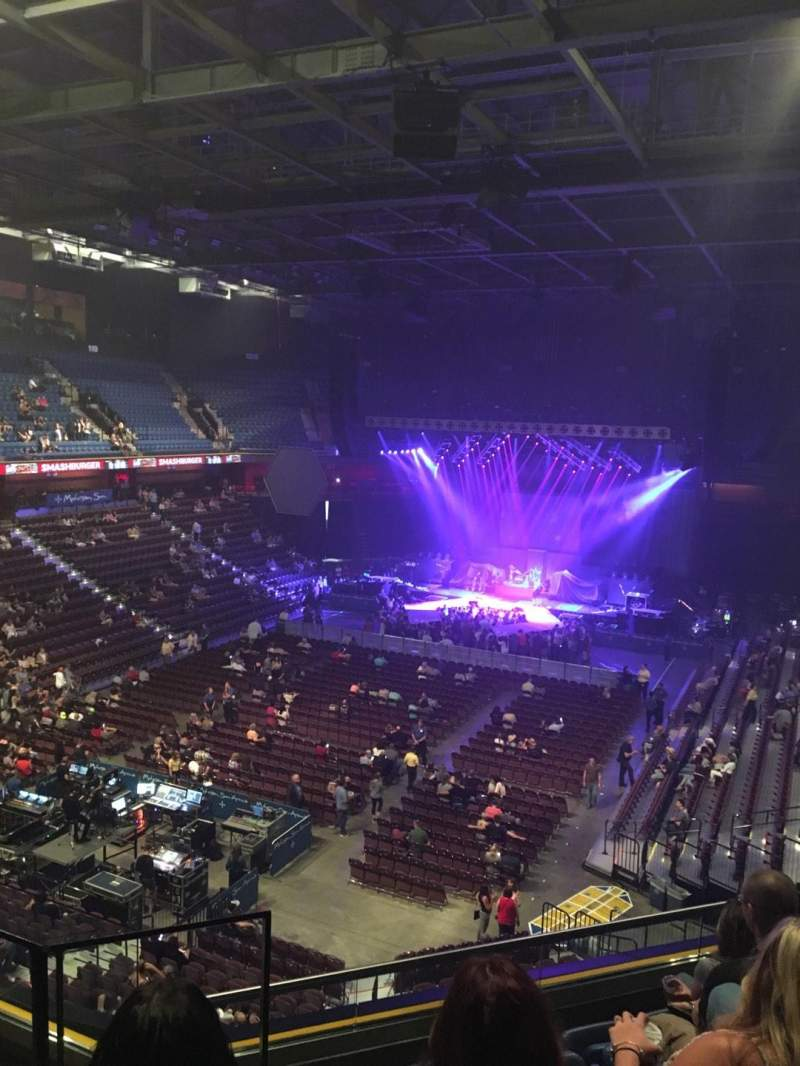 Seating view for Mohegan Sun Arena Section 110 Row F Seat 14