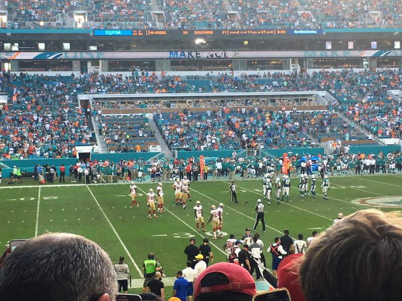 Seating view for Hard Rock Stadium Section 120 Row 22 Seat 18
