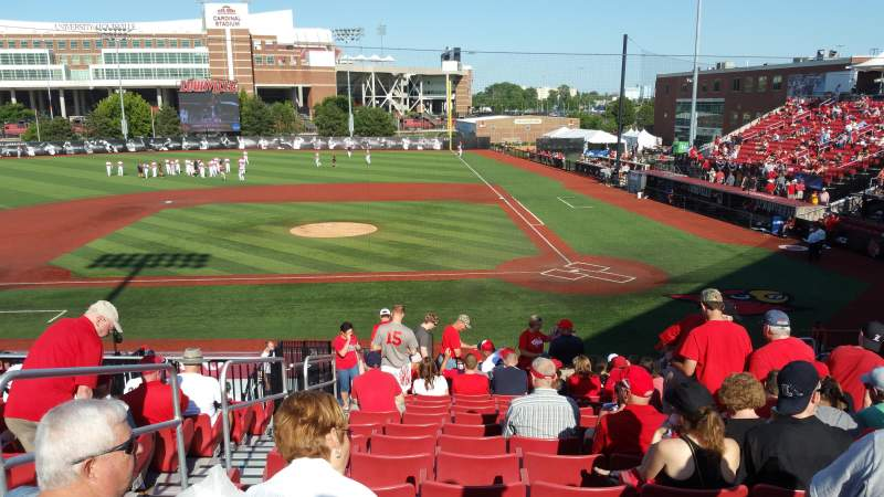 Seating view for Jim Patterson Stadium Section 210 Row R Seat 114