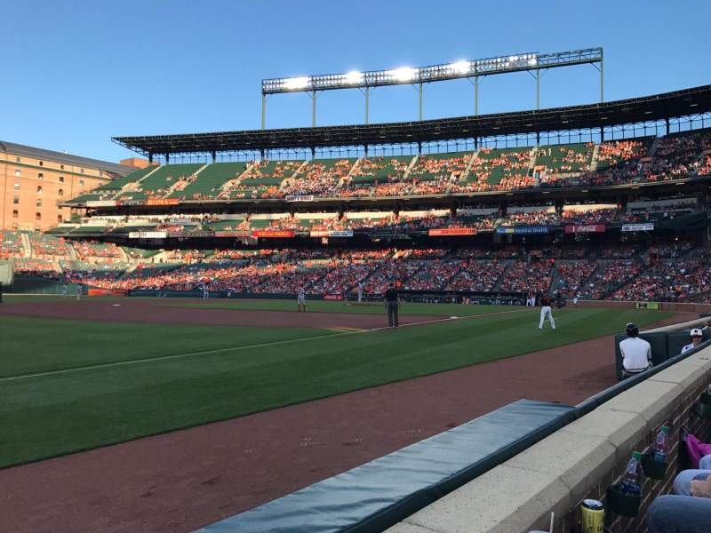Seating view for Oriole Park at Camden Yards Section 62 Row 1 Seat 7