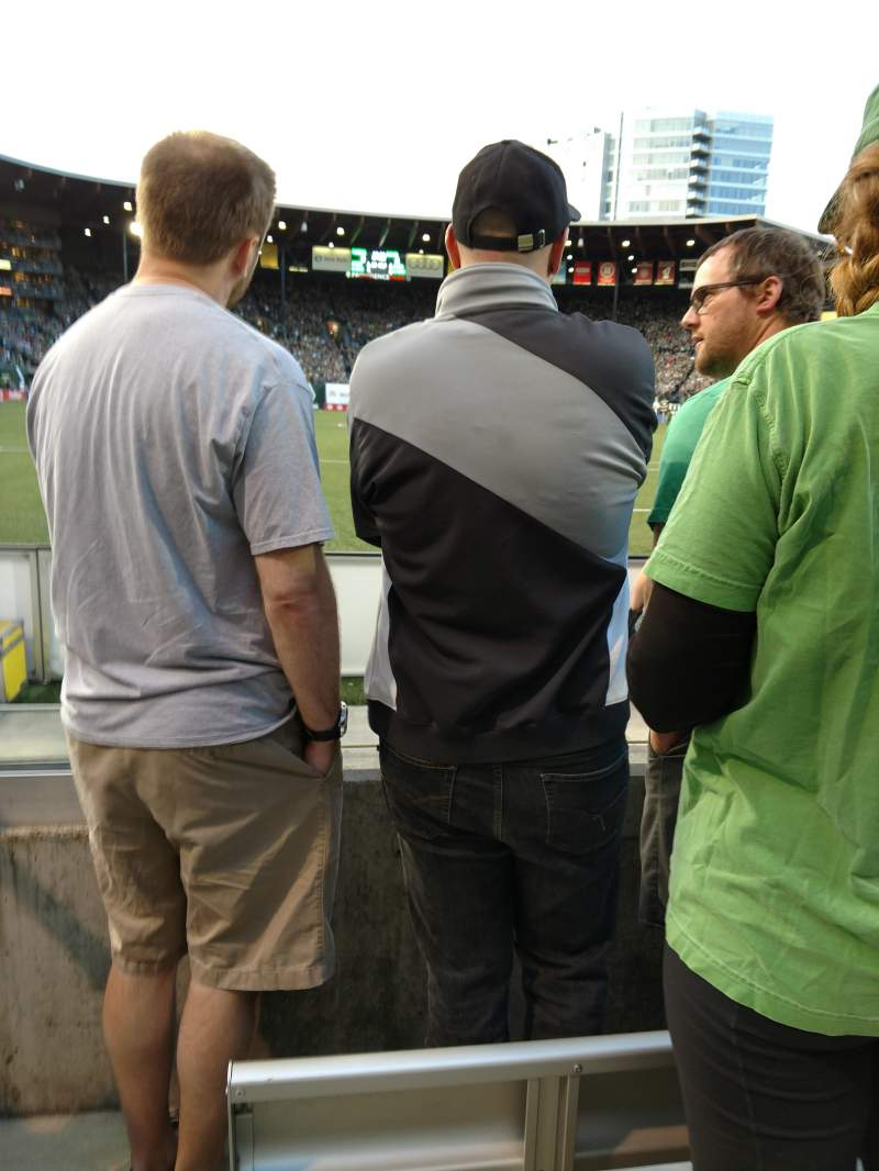 Seating view for Providence Park Section SD3 Row C Seat 1+2