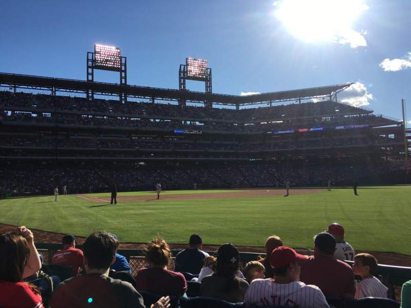Seating view for Citizens Bank Park Section 109 Row 6 Seat 14