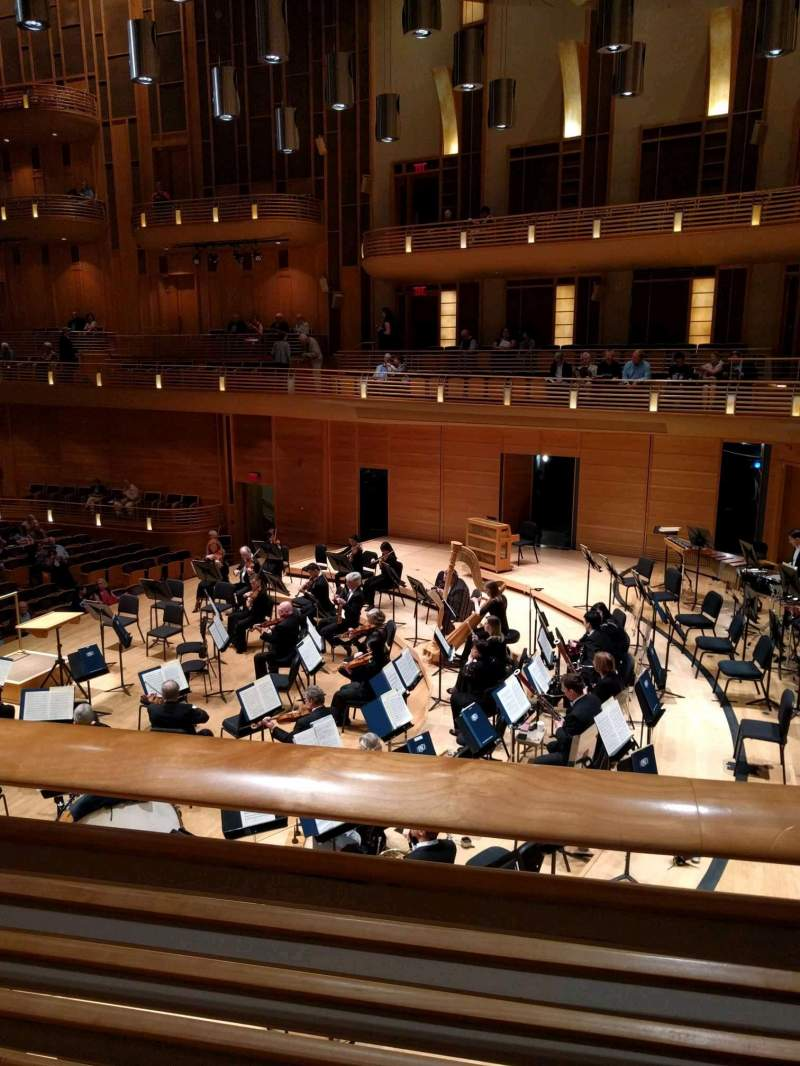 Seating view for The Music Center at Strathmore Section Promenade Front Right Row A Seat 4