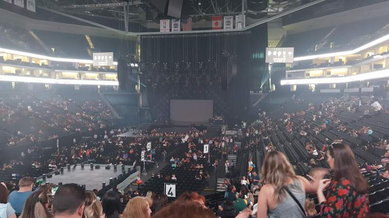 Golden 1 Center, section: 112, row: T, seat: 4