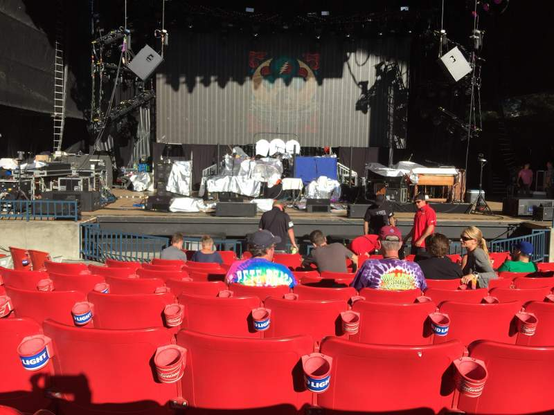 Shoreline Amphitheatre, section: 102, row: D, seat: 15
