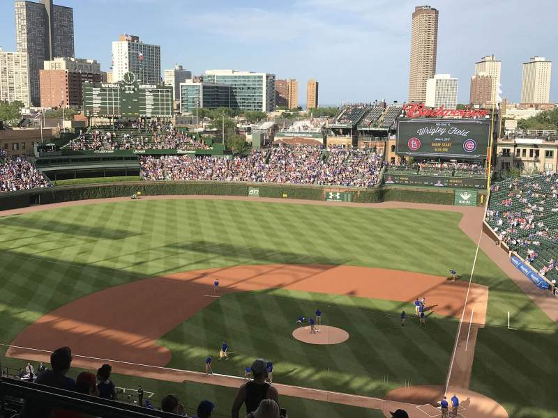 Seating view for Wrigley Field Section 313L Row 3 Seat 5