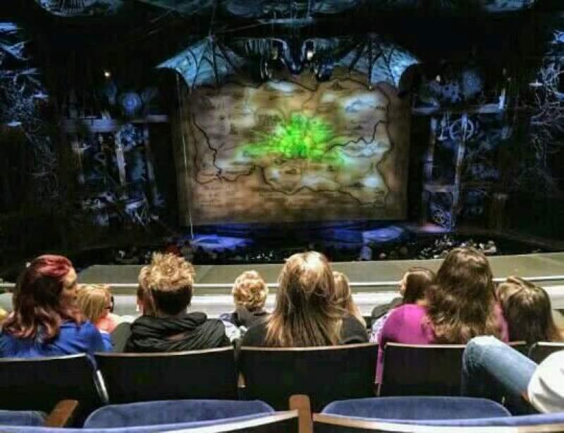Gershwin Theatre, section: Front Mezzanine C, row: D, seat: 106