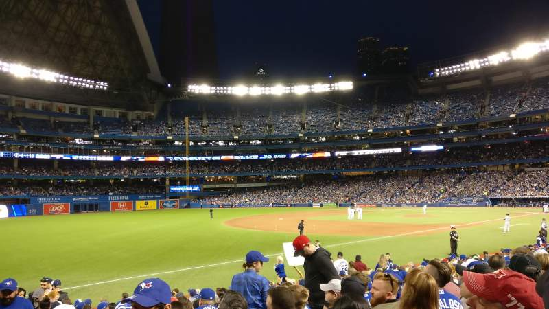 Seating view for Rogers Centre Section 139R Row 18 Seat 1