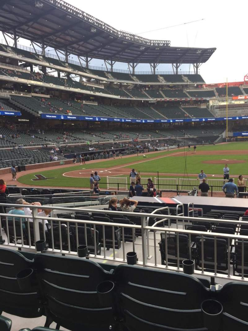 Seating view for SunTrust Park Section 120 Row 3 Seat 5