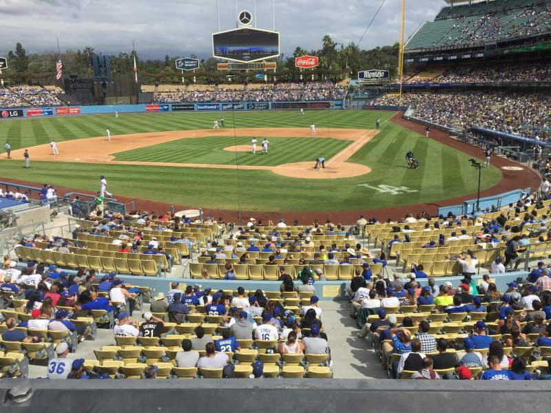 Seating view for Dodger Stadium Section 113LG Row A Seat 4