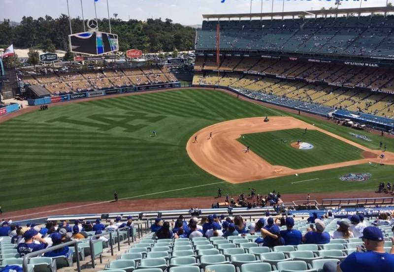 Seating view for Dodger Stadium Section 29RS Row AA Seat 4