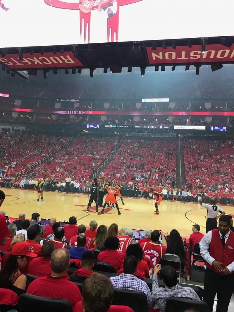 Toyota Center, Section 120, Row 5, Seat 2   Houston Rockets Vs Oklahoma  City Thunder, Shared By Moihtx