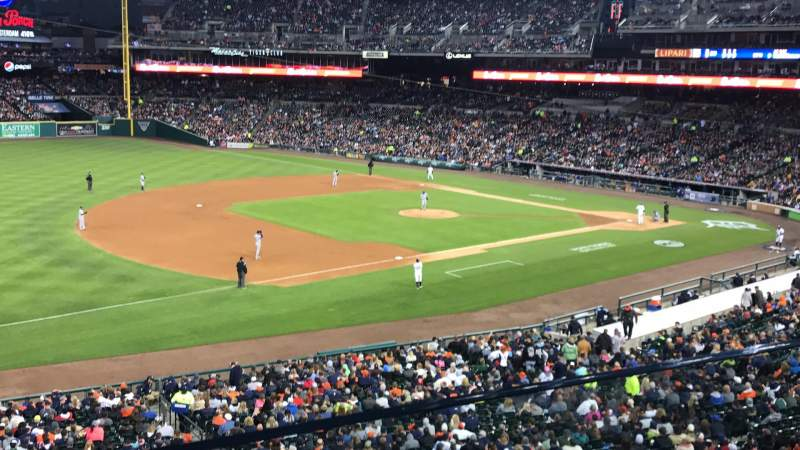 COMERICA PARK, section: CHAMPIONS CLUB, row: A, seat: 7,8