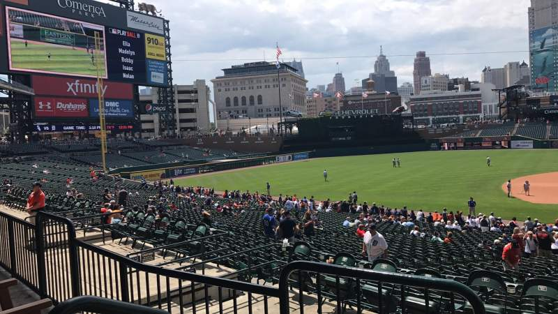 Seating view for COMERICA PARK Section 135A Row B Seat 3