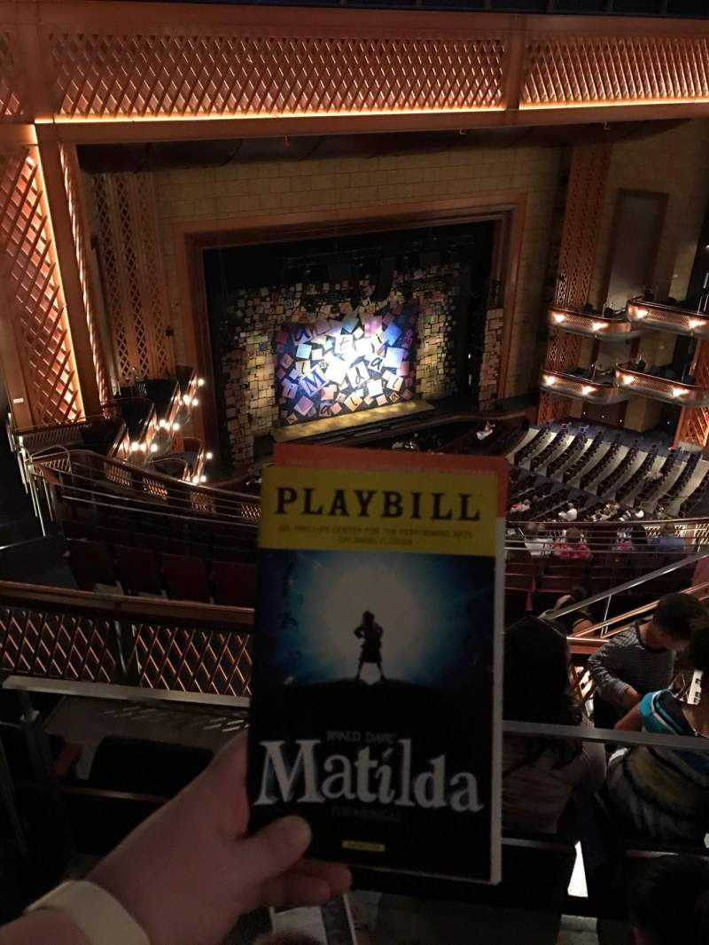 Walt Disney Theatre - Dr. Phillips Center, section: Upper Balcony, row: K, seat: 101