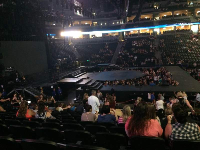 Seating view for Pepsi Center Section 126 Row 16 Seat 1