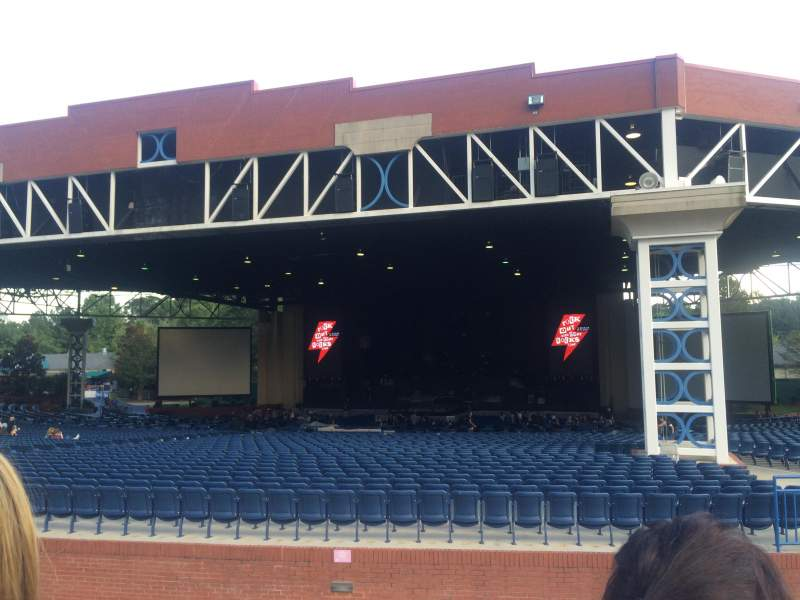 Seating view for Coastal Credit Union Music Park at Walnut Creek Section Front of lawn