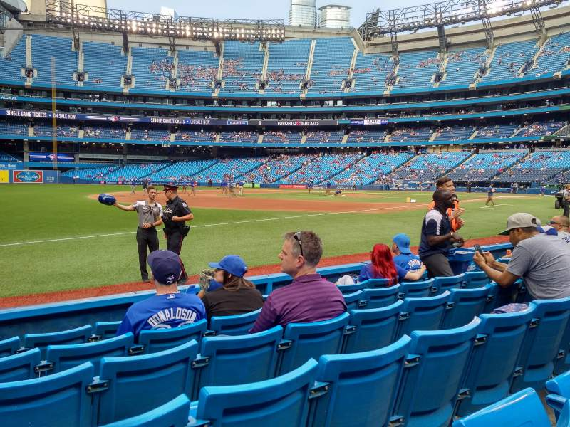 Seating view for Rogers Centre Section 134al Row 6 Seat 111